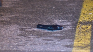 Longueuil police are investigating the discovery of a handgun in a Boucherville parking lot