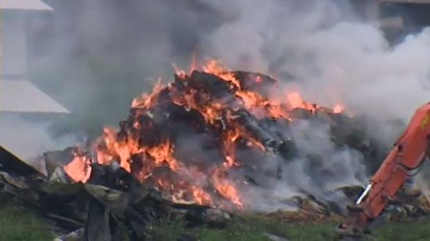 Fires Burn Barns In Wellington County