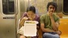 File photo of woman eating on NY subway. (Photo: WNYC New York Public Radio)