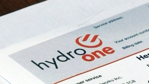 A Hydro One bill is seen in this undated file photo.