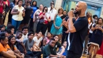 Musician and actor Common visits the Renaissance School of the Arts as Ambassador for AdoptAClassroom.org and Burlington Stores on Thursday, July 20, 2017, in New York. (Photo by Charles Sykes/Invision/AP)
