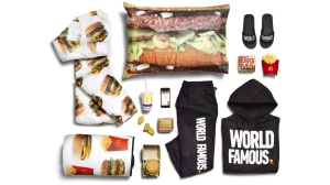 The McDonald's McDelivery collection is shown in this image from the company's website.