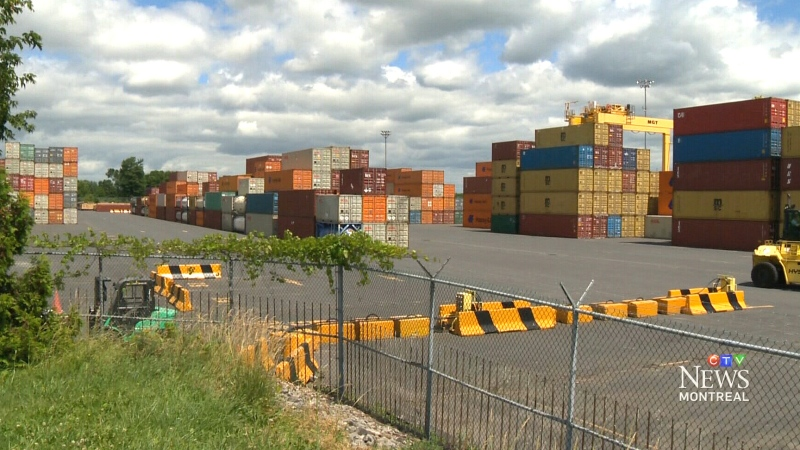 Shipping container at Montreal port