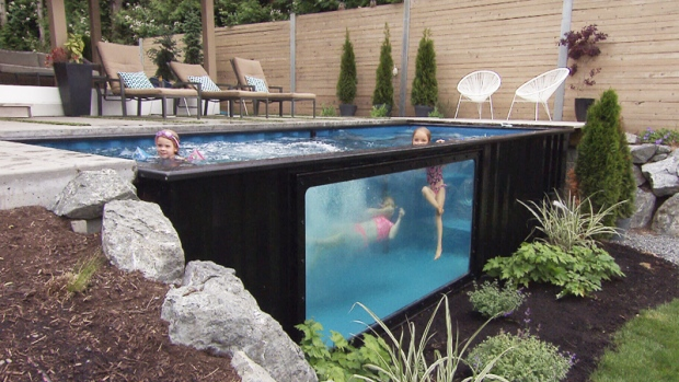 pools made from shipping containers make a big splash. Black Bedroom Furniture Sets. Home Design Ideas