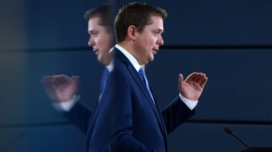 Leader of the Official Opposition and Leader of the Conservative Party of Canada, Andrew Scheer, makes an announcement and holds a media availability at the National Press Theatre in Ottawa on Thursday, July 20, 2017. (Sean Kilpatrick / THE CANADIAN PRESS)