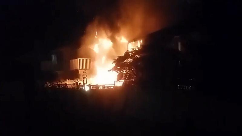 Surrey townhouse fire