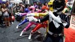 Power Ranger characters strike a pose for Comic-Con attendees during Preview Night of the 2017 Comic-Con International in San Diego, Calif. (Photo by Chris Pizzello / Invision / AP)