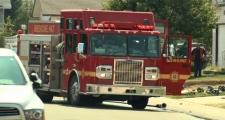 Medicine Hat Fire Service engine - Hudson Way NE