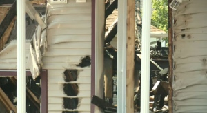Damage to a home on Hudson Way NE following a July 19 fire and explosion in Medicine Hat