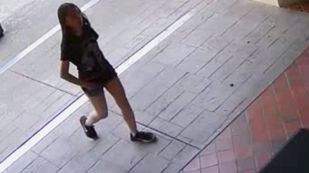 Police have released surveillance images of 13-year-old Marrisa Shen taken on Tuesday, hours before she was killed. July 18, 2017. (Handout)
