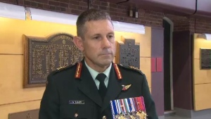 Brig-Gen. Mark Misener speaks to CTV News after taking command of the Joint Personnel Support Unit in Ottawa, on Thursday, July 20, 2017.