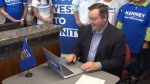 Jason Kenney voting