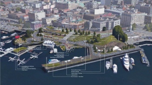 Concept art for a proposed redesign of the Ship Point area in Victoria's Inner Harbour is shown. July 20, 2017. (City of Victoria)