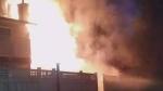 Surrey townhouse fire sets off live ammunition