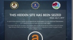 A website that has been seized as part of a law enforcement operation by the Federal Bureau of Investigation, the Drug Enforcement Administration and European law enforcement agencies acting through Europol is seen on Thursday, July 20, 2017. (U.S. Department of Justice)