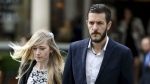 Charlie Gard's parents Connie Yates and Chris Gard arrive at the Royal Courts of Justice in London where the hearing will resume into the case of their terminally-ill baby on Friday July 21, 2017. (Lauren Hurley / PA)