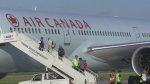An Air Canada flight from Madrid to Toronto was rerouted to London following severe weather in Toronto on Thursday, July 20, 2017. (Reta Ismail / CTV London)