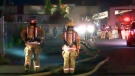 40 firefighters were at the scene of a suspicious fire on Lafleur Ave. in LaSalle (July 21, 2017)