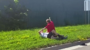 A Peterborough man is facing charges after he was caught on camera brutally beating a cyclist on July 18, 2017.