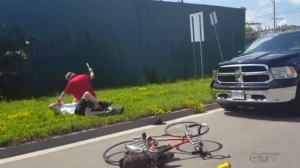 Police have charged a Peterborough man after a cyclist was attacked by a driver with a club on July 18, 2017.