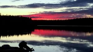 Sickle Lake Sunset. Photo by Richard Atkins.