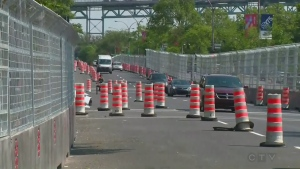 Construction cones, race, track