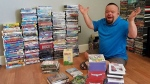 Strangers have sent Mark Orsillo hundreds of replacement movies after a wildfire destroyed his collection of DVDs and video tapes. (Mark on Life / Facebook)