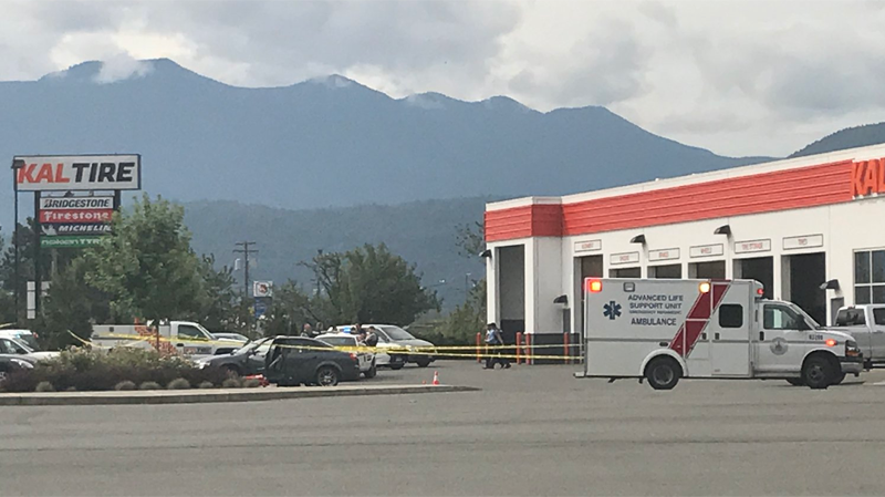 Police probe an apparent shooting in Chilliwack on July 21, 2017. (CTV)