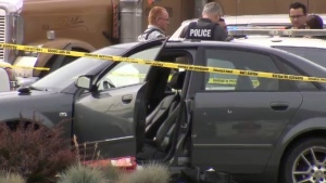 A male victim died of injuries following a shooting at a Kal Tire location in Chilliwack on Friday, July 21, 2017.