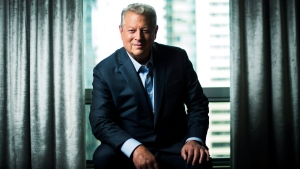 Al Gore poses for a photograph before talking about his new film 'An Inconvenient Sequel: Truth the Power' in Toronto on Friday, July 21, 2017. (THE CANADIAN PRESS / Nathan Denette)