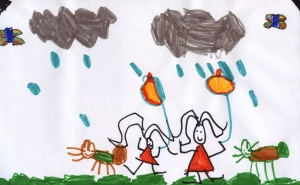 Weather art by Keira, age 5, from Douglas Annex.