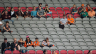 Numerous seats sit empty as the B.C. Lions and Saskatchewan Roughriders play during the first half of a pre-season CFL football game in Vancouver, B.C., on Friday, June 16, 2017. THE CANADIAN PRESS/Darryl Dyck