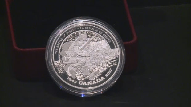 The coin, unveiled by the Royal Canadian Mint in May, commemorates the Battle of Dieppe. The perceived error offended veterans in Canada as well as in France.