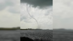 A tornado touches down south of Leroy, Sask., at about 4 p.m. Friday, July 21, 2017. (Nikita Rae)