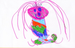 Weather art by Keyara, age 4, from Miller Park Community School.