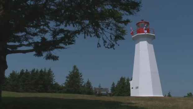 The Cape George Lighthouse in Antigonish County, N.S.