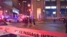 Police investigate a stabbing in Old Montreal.