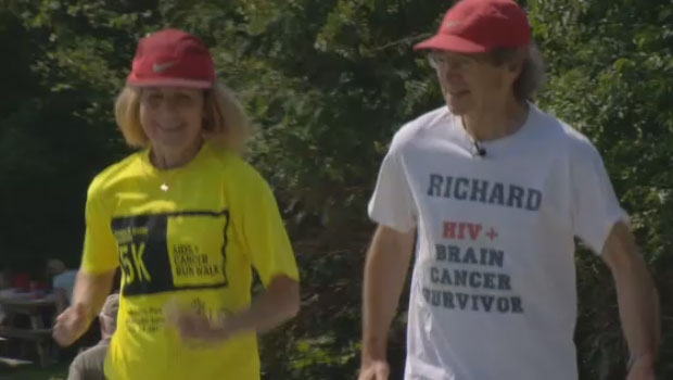 Richard and Jodi Brodsky train for the Nova Scotia Marathon.