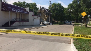 Police responded to a report of shots being fired near the corner of Selkirk Avenue and Parr Street around 10 p.m. (Source: Beth Macdonell/CTV Winnipeg)