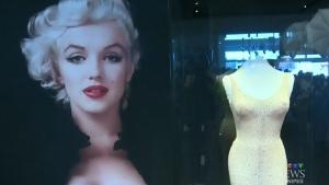 Marilyn Monroe's iconic dress on display in Winni