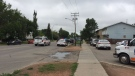 Police investigate after a shooting in the 2300 block of 33rd Street West on July 22, 2017 (Mark Villani / CTV Saskatoon)