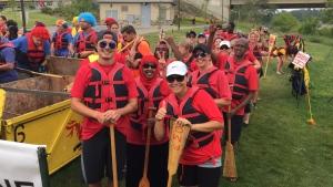 Competitors prepare to hit the water for the Saskatoon Dragon Boat Festival (Mark Villani / CTV Saskatoon)