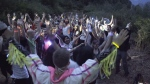 Despite being told by Metro Vancouver to cancel the event, about 60 people embarked on a sober hike rave on Vancouver's North Shore Friday. (Derek Hakkim)