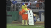 The Famous Chicken at London Majors game