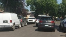 Regina police investigate a death in Howell Park on July 23, 2017 (Saqib Noman / CTV Regina)