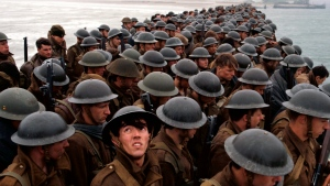 "This image released by Warner Bros. Pictures shows a scene from ""Dunkirk."" (Warner Bros. Pictures via AP)"