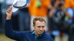 Jordan Spieth of the United States celebrates winning the British Open Golf Championships at Royal Birkdale, Southport, England, Sunday July 23, 2017. (AP / Dave Thompson)