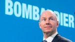 Bombardier chief executive Alain Bellemare arrives at the company's annual meeting Thursday, May 11, 2017 in Montreal. (THE CANADIAN PRESS/Ryan Remiorz)