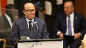Abdrabuh Mansour Hadi Mansour, the president of Yemen, speaks during the Summit for Refugees and Migrants at U.N. headquarters, Monday, Sept. 19, 2016. (AP Photo/Seth Wenig)