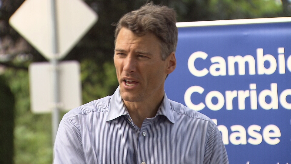Mayor Gregor Robertson gave details about the city's pilot project on affordable rentals on July 23, 2017. (CTV)